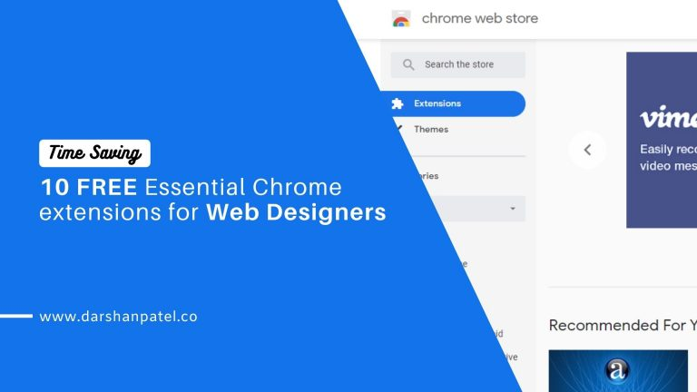 10 FREE Chrome extensions for Web Designers